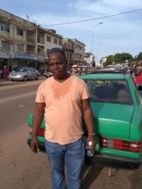 Thats me in blazing 40 degree heat in downtown Serekunda, Gambia